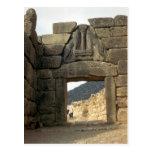 Lion Gate over the entrance Postcard