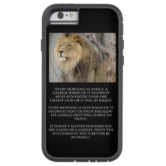 Lion Gazelle Running Quote Cell Phone iPhone Case