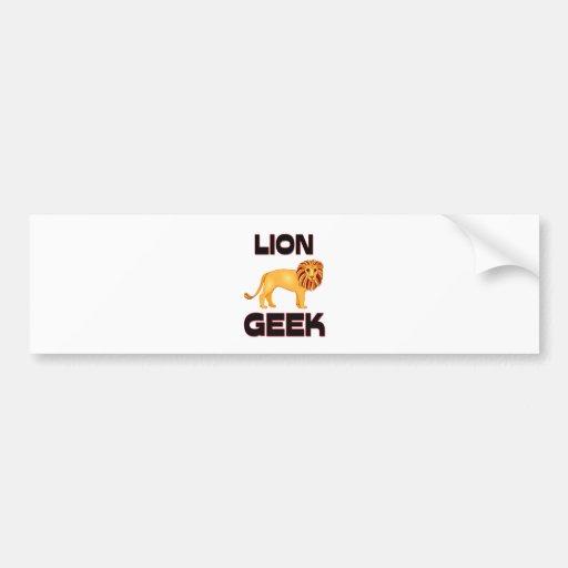 Lion Geek Car Bumper Sticker