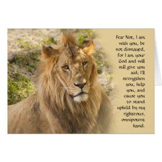 Lion Get Well Card