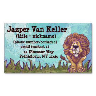 Lion Gifts & Accessories Business Card Magnet