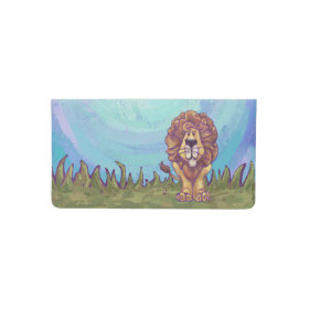 Lion Gifts & Accessories Checkbook Cover