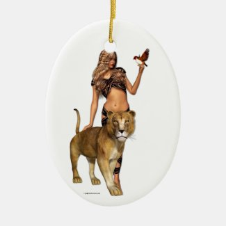 Lion Girl Ornament