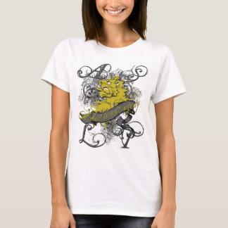 Lion Girl's Baby Doll on White T-Shirt