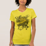 Lion Girl's Baby Doll on Yellow Tee Shirts