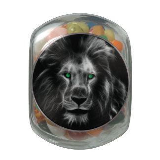 Lion Glass Candy Jars