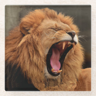 LION GLASS COASTER