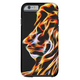 Lion Glow Line Art Fractal iPhone 6, Tough Tough iPhone 6 Case