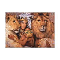 Lion Goddess Egyptian Princess Canvas Art