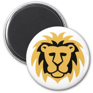 Lion Gold 2 Inch Round Magnet