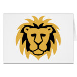 Lion Gold Greeting Card