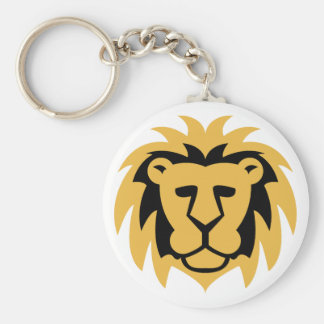 Lion Gold Keychain
