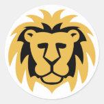 Lion Gold Sticker