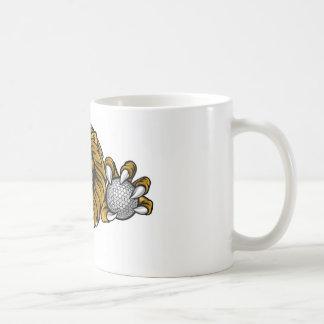 Lion Golf Ball Sports Mascot Coffee Mug