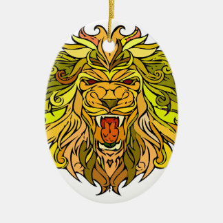Lion graphic design ceramic ornament