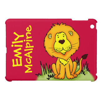 Lion graphic named red kids ipad mini case