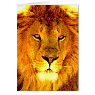 Lion Greeting Card