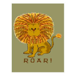 Lion Greeting Cards Postcard