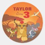 Lion Guard | Birthday Classic Round Sticker