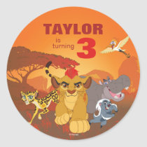 Lion Guard | Birthday Classic Round Sticker