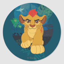 Lion Guard | Kion Safari Graphic Classic Round Sticker