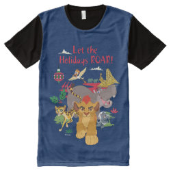 Men's American Apparel All-Over Printed Panel T-Shirt with Disney Christmas Ornaments design