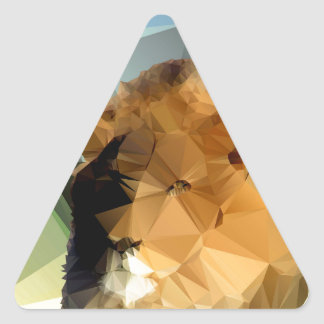 Lion Head African Theme Low Poly Triangle Sticker