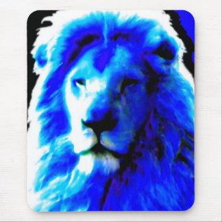 Lion Head Blue mousepad