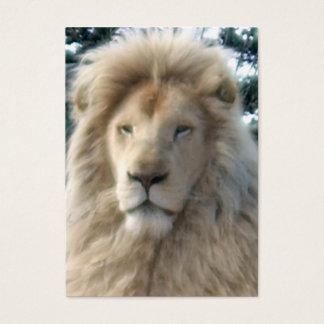 Lion Head business card black chubby