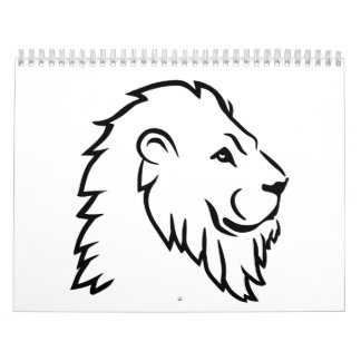Lion head wall calendar