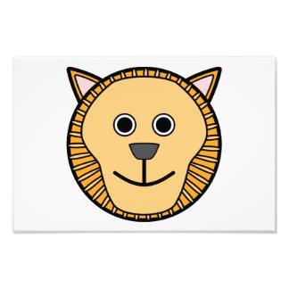 Lion head cartoon photographic print
