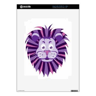 Lion Head Cartoon Decals For iPad 2