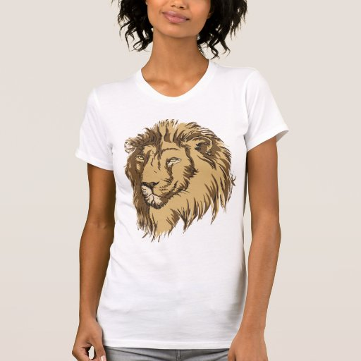 Lion head custom t shirt zazzle for Zazzle custom t shirts