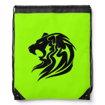 Lion Head Drawstring Backpack