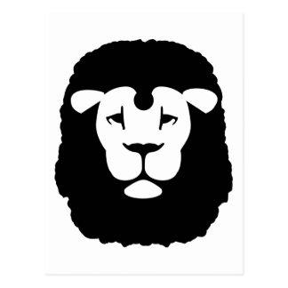 Lion head face postcards