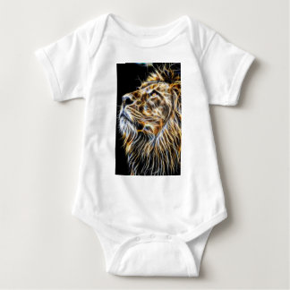 Lion Head Glowing Fractalius Baby Bodysuit