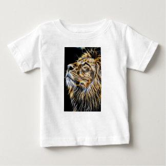 Lion Head Glowing Fractalius Baby T-Shirt