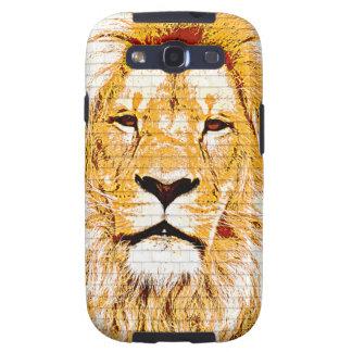 Lion Head Grunge Samsung Galaxy S Case