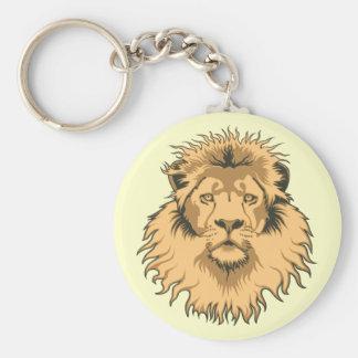Lion Head Keychain