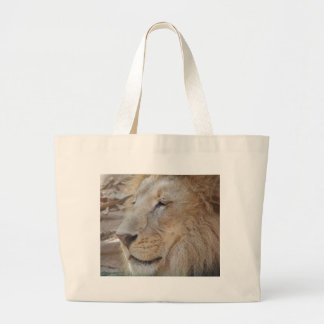 Lion Head Large Tote Bag