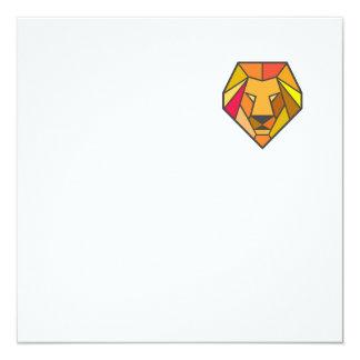 Lion Head Low Polygon Card