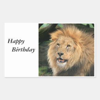 Lion head male beautiful photo birthday stickers