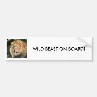 lion head male beautiful photo bumper sticker car bumper sticker
