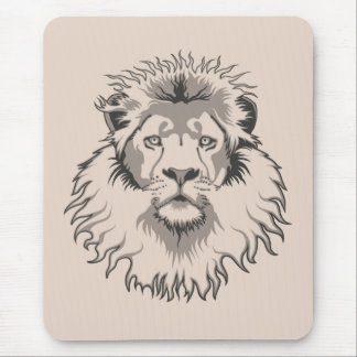 Lion Head Mouse Pad