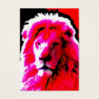 Lion Head Pink business card white chubby