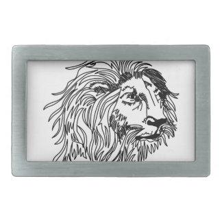 Lion Head Ragwork Belt Buckles