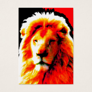 Lion Head Red business card black chubby