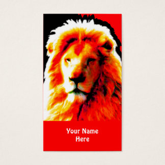 Lion Head Red business card red