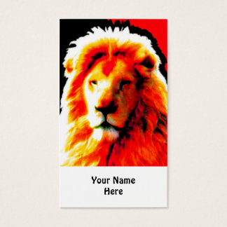 Lion Head Red business card white