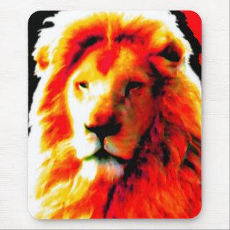 Lion Head Red mousepad